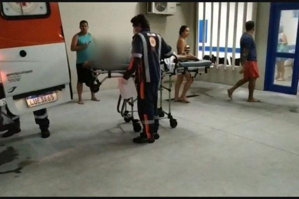Crianças foram levadas inicialmente para o Cras de Saracuruna e depois para o Hospital Adão Pereira Nunes