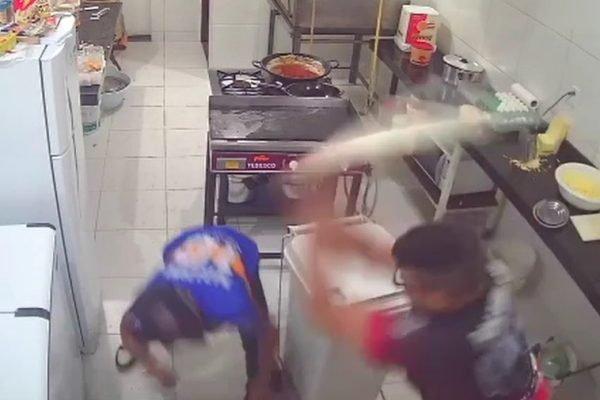Homem reagiu a assalto com rolo de pizza