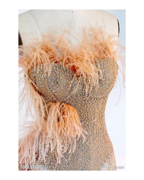 Vestido feito pela irmã da Lady Gaga