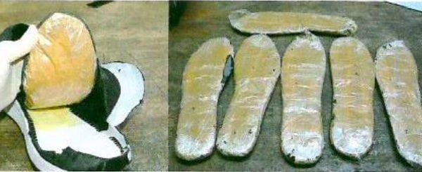 PF acha cocaína escondida em sola de calçados