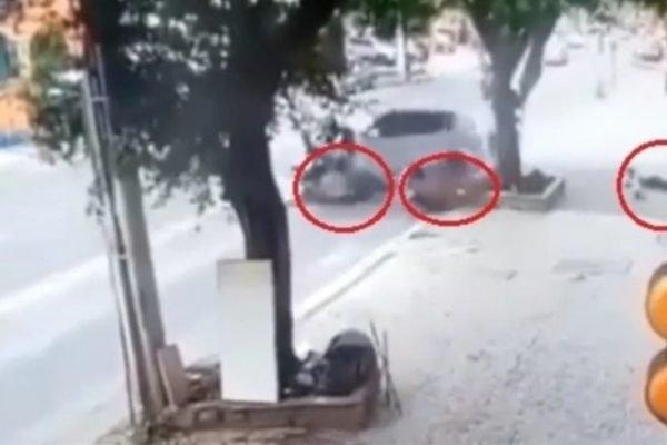 Idosa atropela três mulheres após carro desgovernado invadir calçada em Juiz de Fora