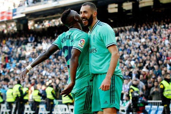 Vinícius Jr. e Karim Benzema
