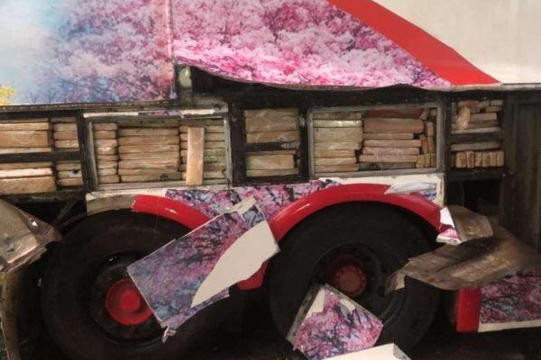 Ônibus levava 1.800 quilos de maconha e R$ 4 mil em espécie