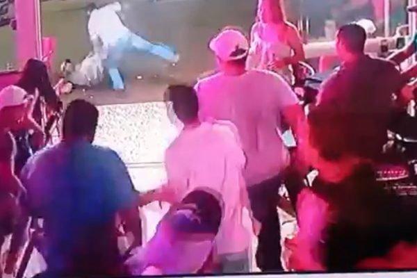 goias homem leva surra em bar após agredir mulher