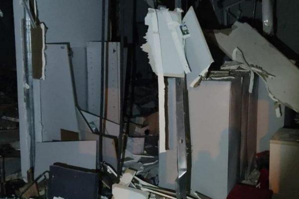 A explosão em agência bancária da Paraíba deixou o local completamente destruído