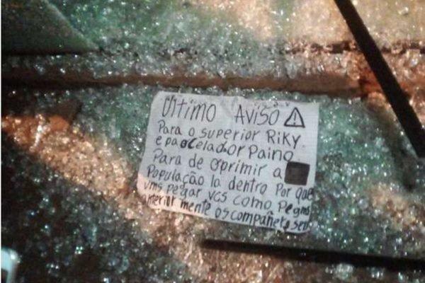 Pistoleiros atiram em casa de servidor penitenciário e deixam bilhete ameaçador