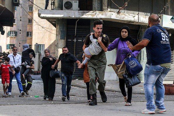 População fugiu de tiros e explosões em Beirute