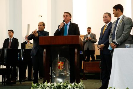 Presidente Jair Bolsonaro durante o Simpósio Cidadania Cristã, no dia 5 de outubro