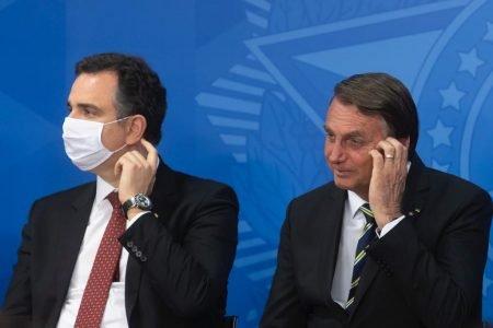 Presidente do Senado Federal Rodrigo Pacheco e Bolsonaro durante Cerimônia de Sanção do Projeto de Lei que cria o Tribunal Regional Federal da 6ª Região 31