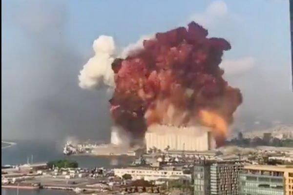 explosão Beirute porto libano