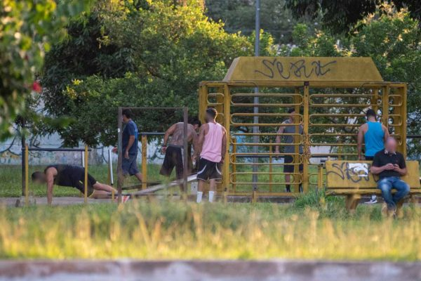 Morados do guará fazem exercicio em periodo de quarentena na pandemia