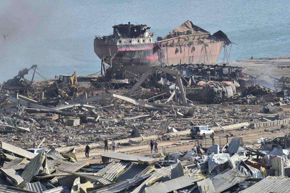 Explosão porto Líbano Beirute