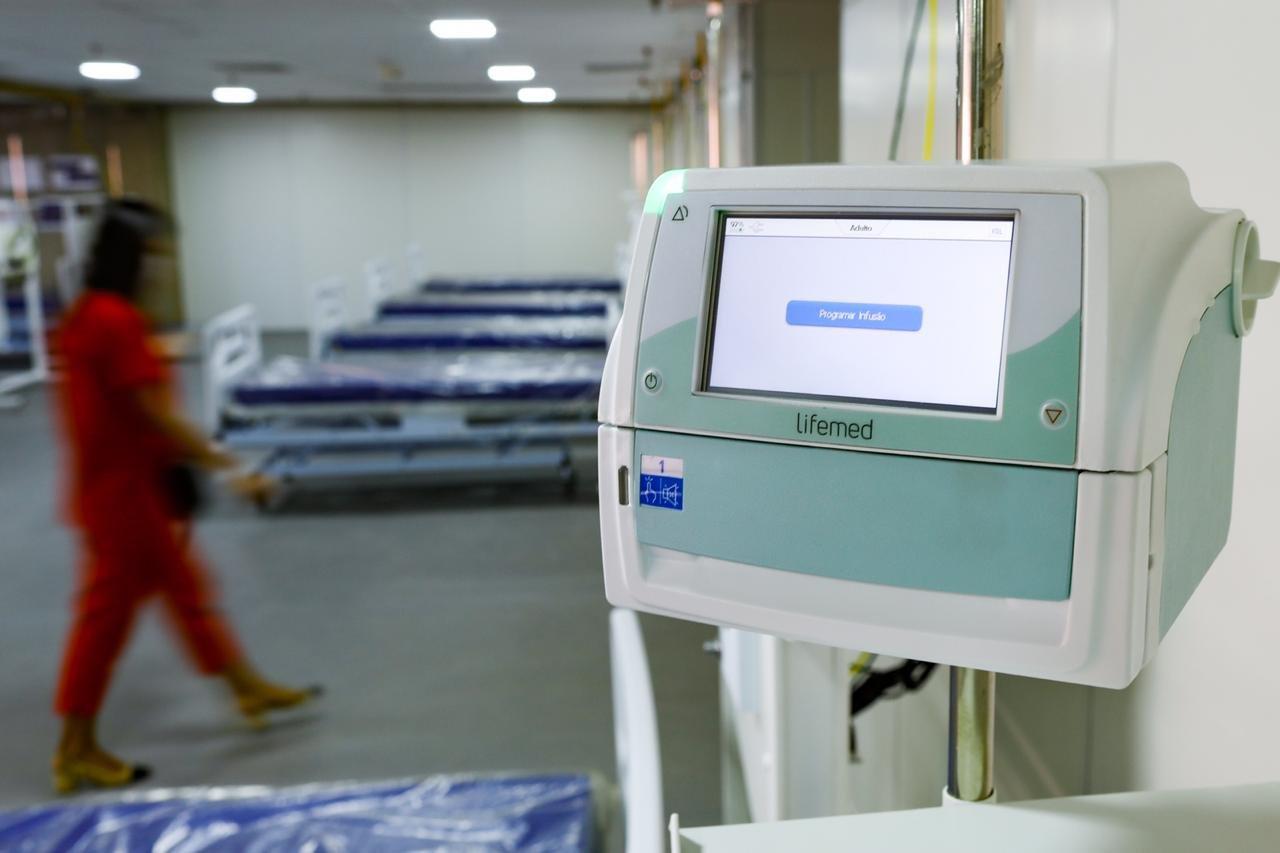 Equipamento de respiração hospital