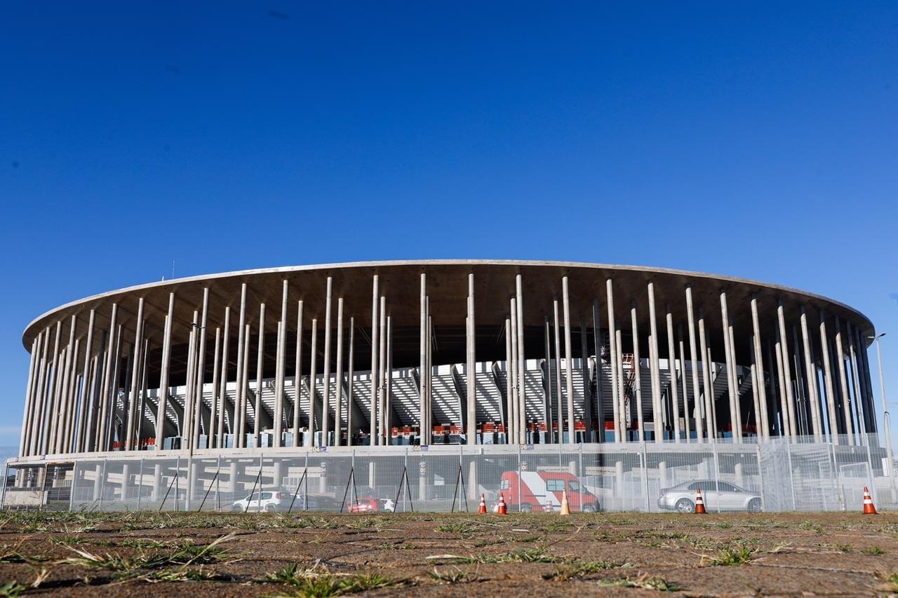 Fachada do Estádio Mané Garrincha