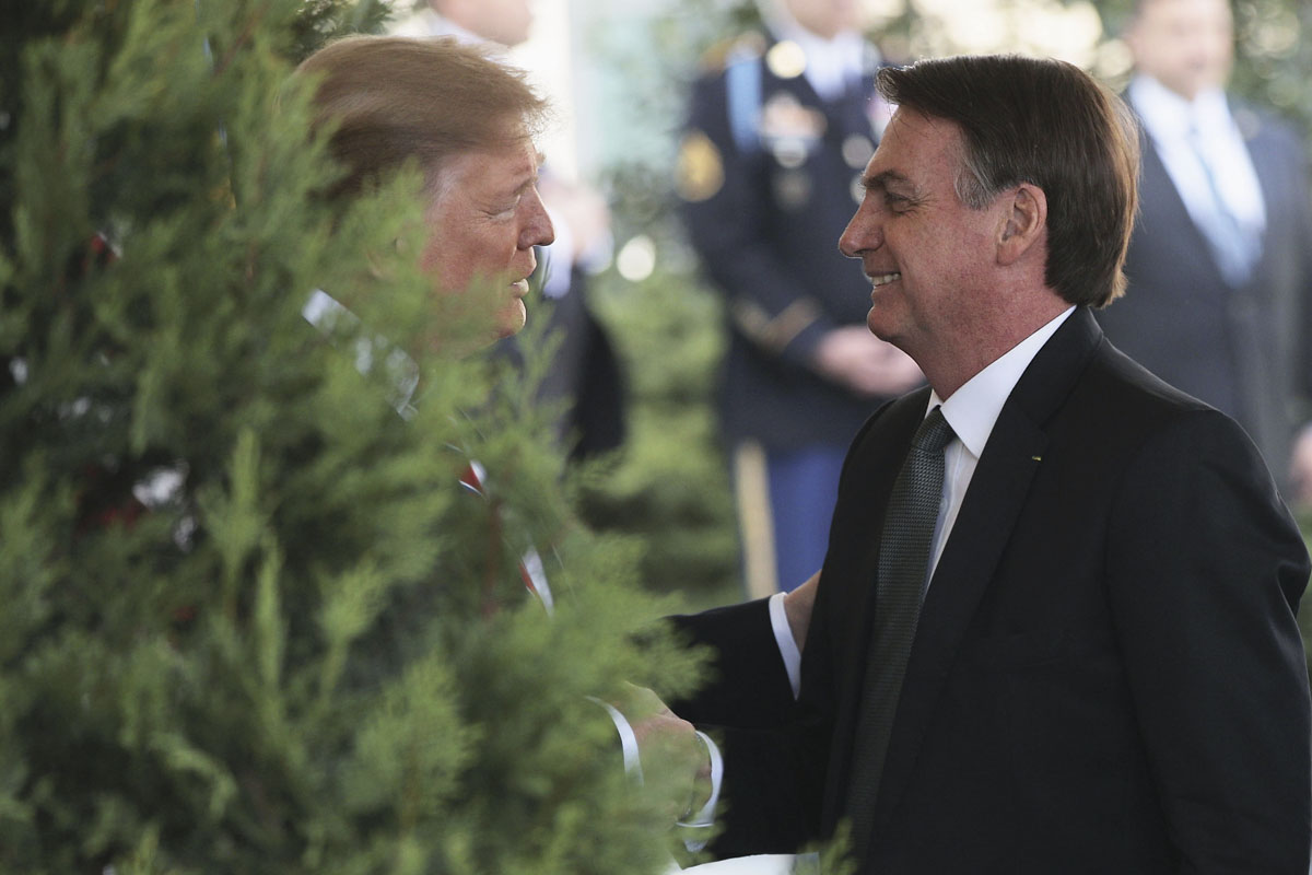 President Trump Holds Joint Press Conference With Brazilian President Bolsonaro