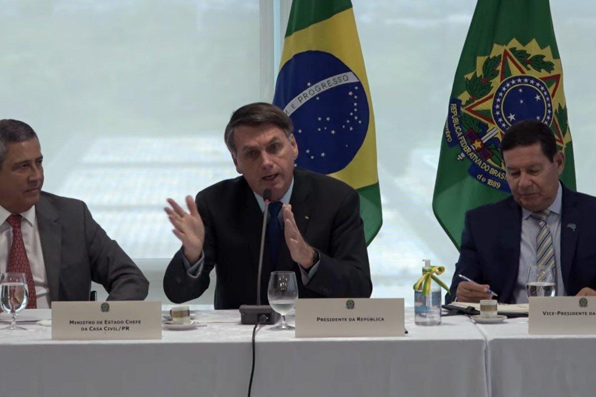 reprodução videos do presidente bolsonaro e ministros do STF divulgados