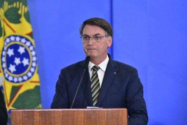 Presidente Bolsonaro durante a posse