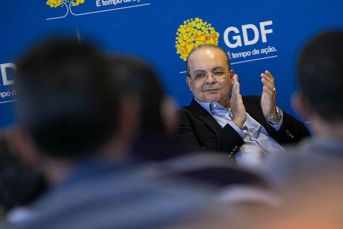Governador de Brasília Ibaneis Rocha GDF durante evento Buriti