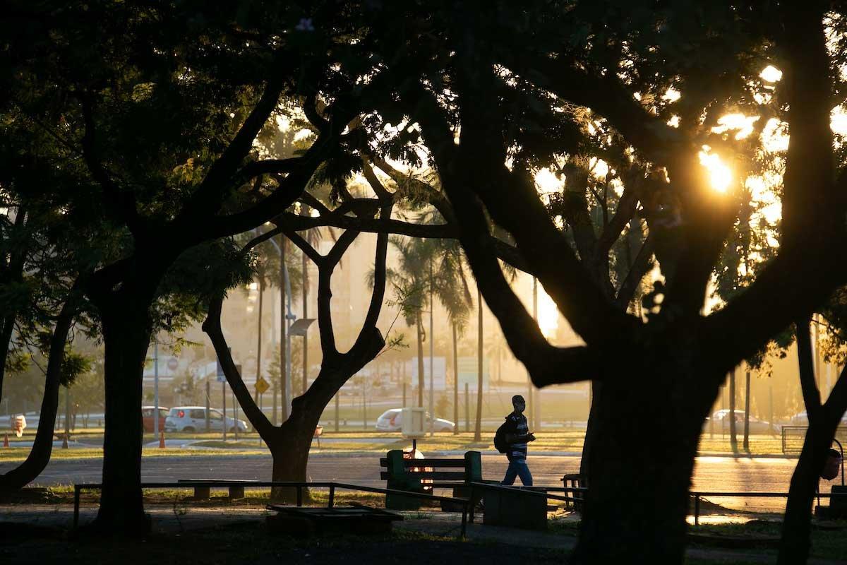 pessoas fazem esporte parque da cidade abre para atividade esportiva em período de pandemia