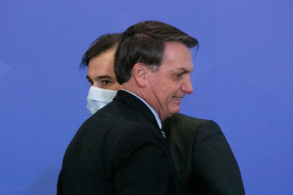 Rodrigo Maia e Jair Bolsonaro durante evento