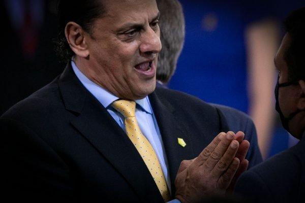Advogado pessoal do presidente Bolsonaro, Frederick Wassef durante evento palacio