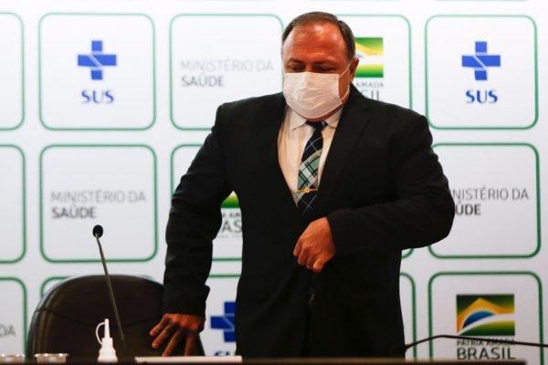 Ministro da saúde eduardo pazuello coletiva saida 3