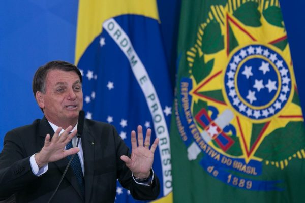 Presidente Jair Bolsonaro durante Posse do novo ministro do turismo, Gilson Machado durante evento no planalto 1