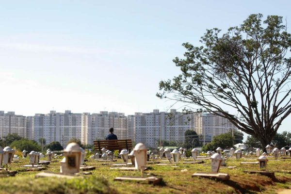 cemitério enterro vítimas de covid coronavirus pandemia brasilia